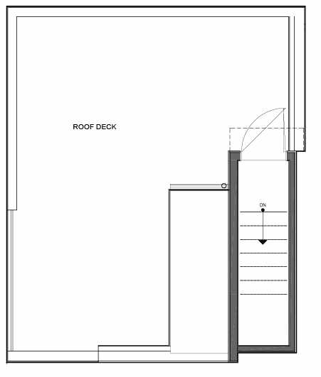 Roof Deck Floor Plan of 14339E Stone Ave N, One of the Maya Townhomes in Haller Lake