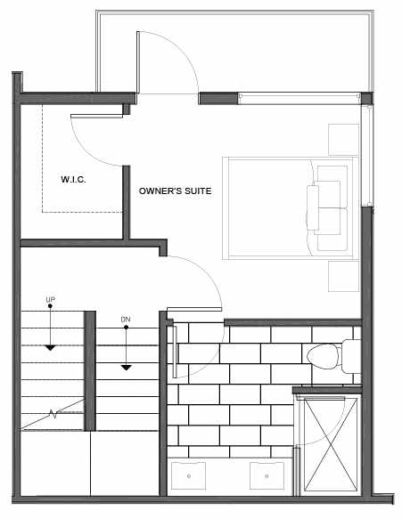 Third Floor Plan of 14339F Stone Ave N, One of the Maya Townhomes in Haller Lake