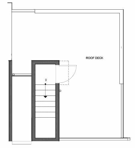 Roof Deck Floor Plan of 14339F Stone Ave N, One of the Maya Townhomes in Haller Lake