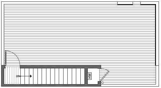 Roof Deck Floor Plan of 1539A 14th Ave S, Hawk's Nest Townhomes, Located in North Beacon Hill