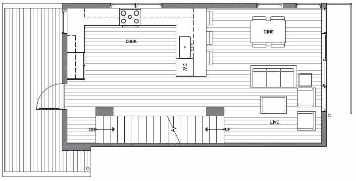 Second Floor Plan of 1539A 14th Ave S, Hawk's Nest Townhomes, Located in North Beacon Hill