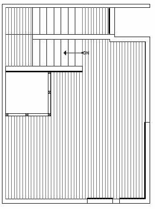 Roof Deck Floor Plan of 1541C 14th Ave S, Hawk's Nest Townhomes, Located in North Beacon Hill
