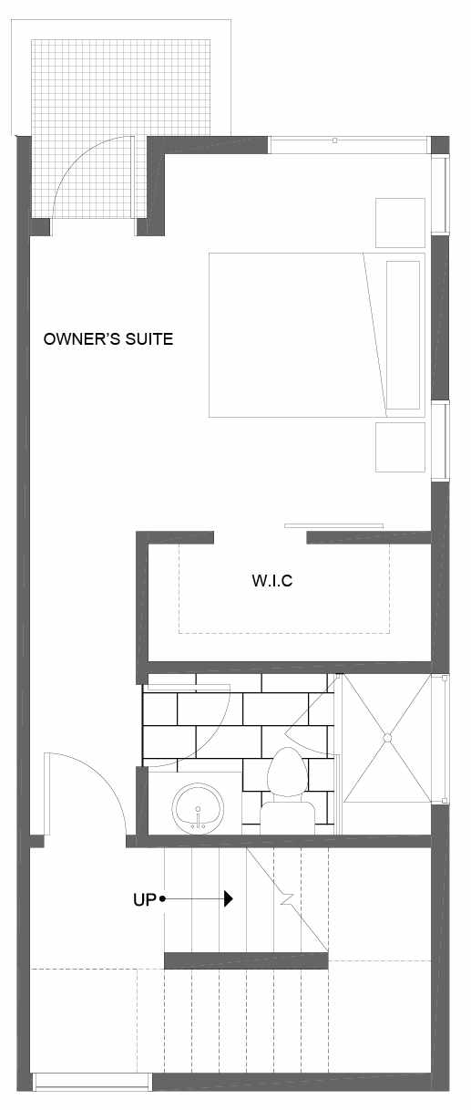 Third Floor Plan of 1600 NW 85th St, One of the Alina Townhomes in Crown Hill