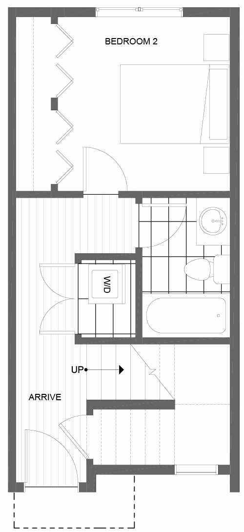 First Floor Plan of 1602 NW 85th St, One of the Alina Townhomes in Crown Hill