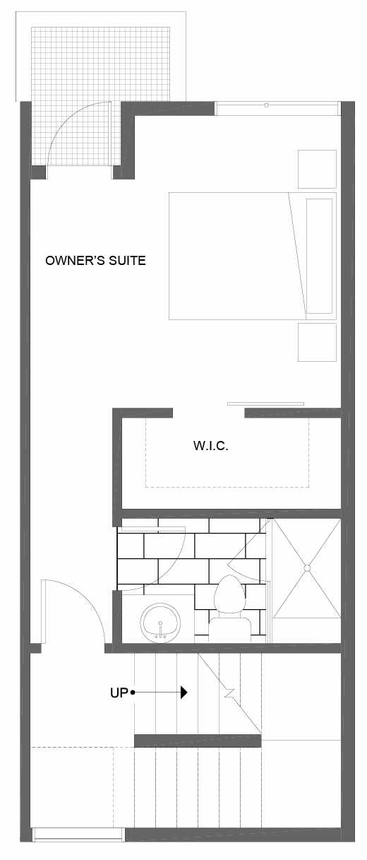 Third Floor Plan of 1604 NW 85th St, One of the Alina Townhomes in Crown Hill