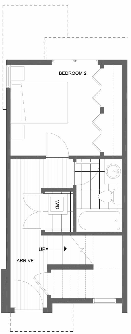 First Floor Plan of 1606 NW 85th St, One of the Alina Townhomes in Crown Hill