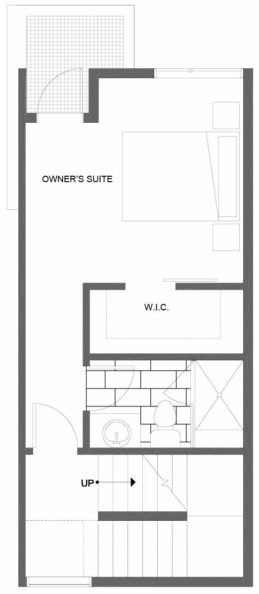 Third Floor Plan of 1606 NW 85th St, One of the Alina Townhomes in Crown Hill