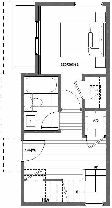 First Floor Plan of 1724A 11th Avenue in Wyn Tonwhomes, Capitol Hill Seattle