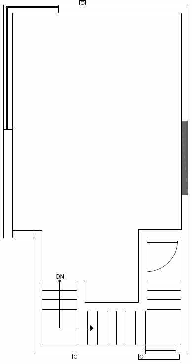 Roof Deck Floor Plan of 1724A 11th Avenue in Wyn Tonwhomes, Capitol Hill Seattle