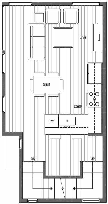 Second Floor Plan of 1724A 11th Avenue in Wyn Tonwhomes, Capitol Hill Seattle