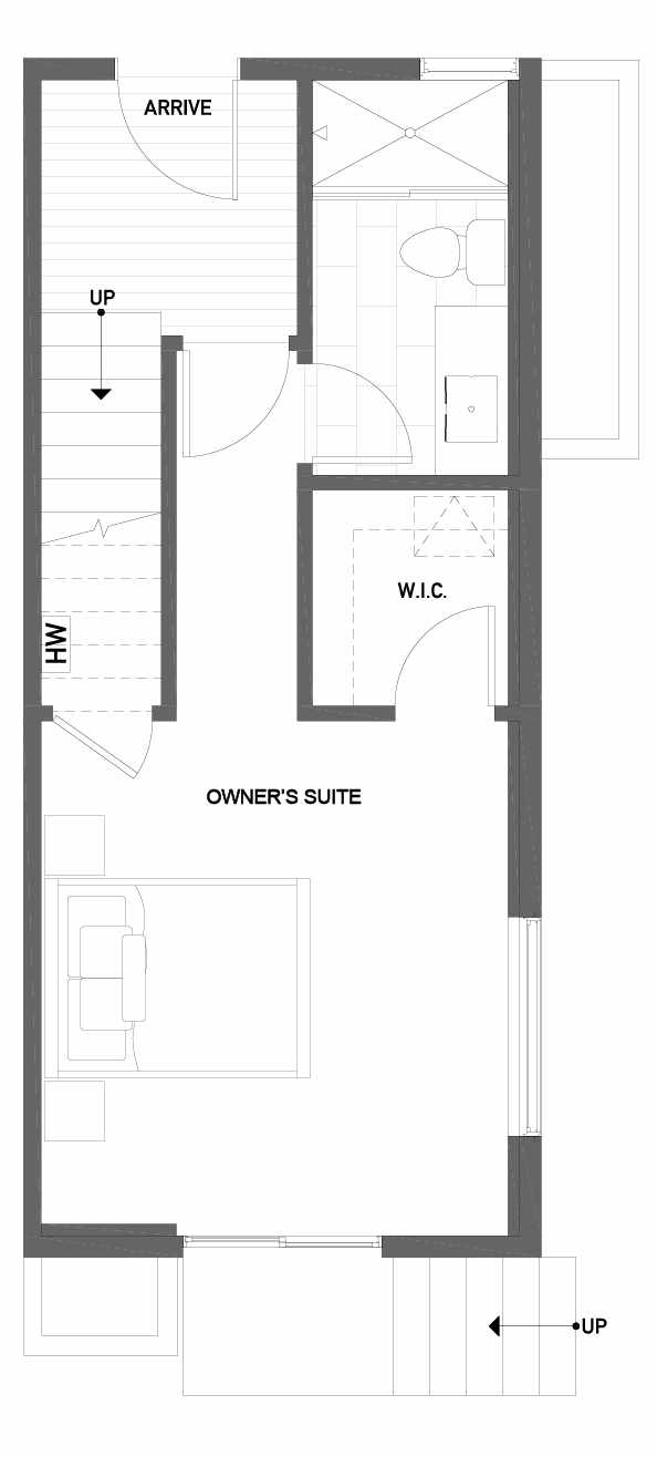 First Floor Plan of 1724G 11th Avenue in Wyn Tonwhomes, Capitol Hill Seattle