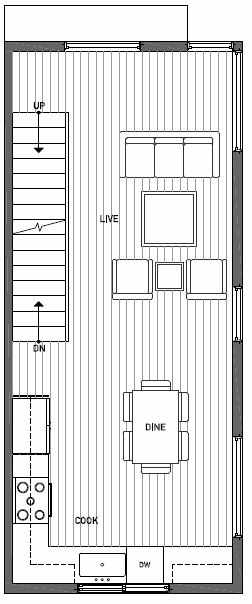 Second Floor Plan of 1724G 11th Avenue in Wyn Tonwhomes, Capitol Hill Seattle