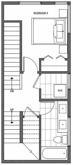 Third Floor Plan of 1724G 11th Avenue in Wyn Tonwhomes, Capitol Hill Seattle
