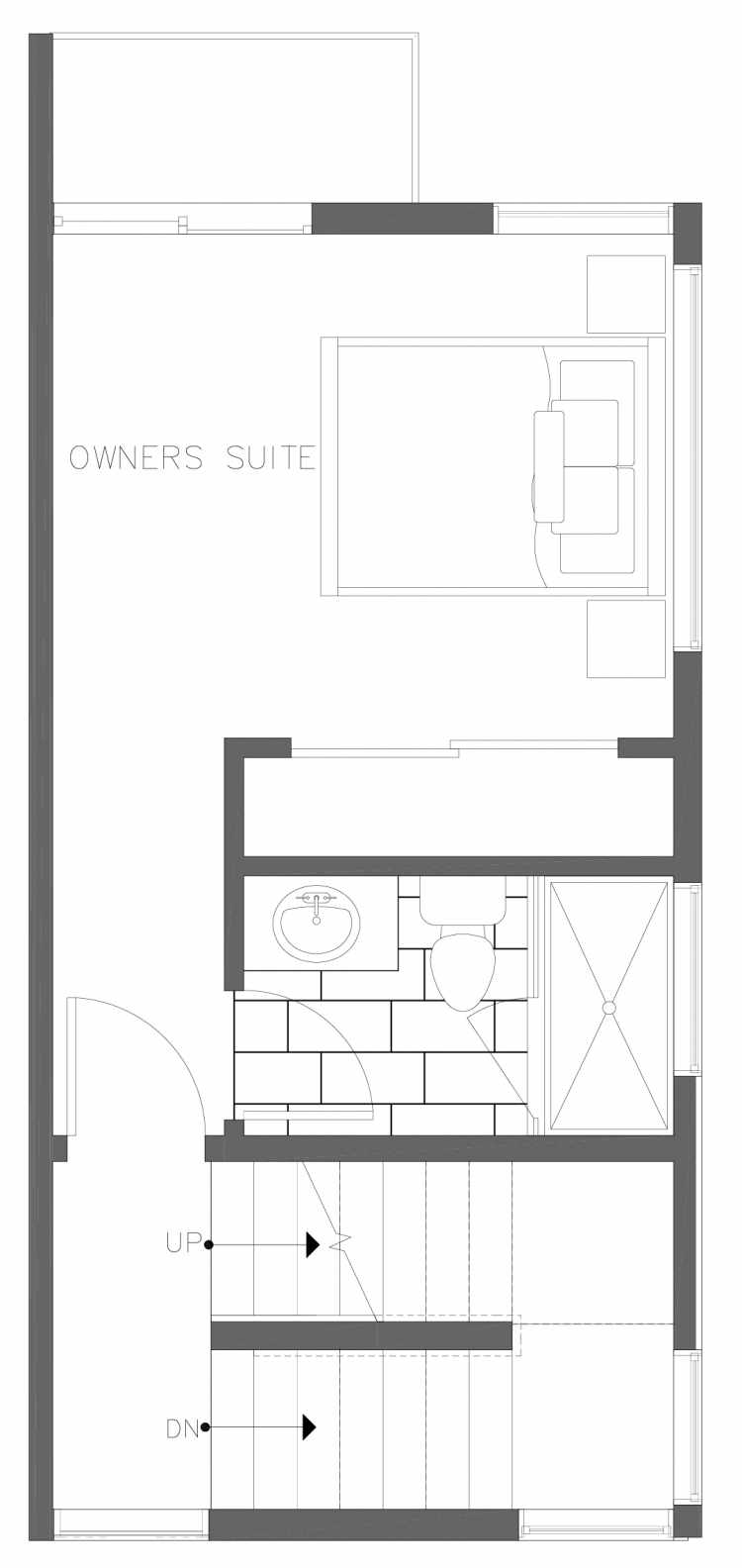 Third Floor Plan of 1728A 11th Ave, One of the Altair Townhomes in Capitol Hill by Isola Homes