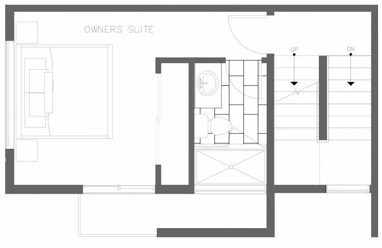 Third Floor Plan of 1728B 11th Ave, One of the Altair Townhomes in Capitol Hill by Isola Homes