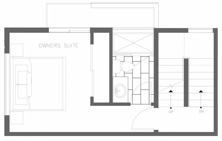 Third Floor Plan of 1728C 11th Ave, One of the Altair Townhomes in Capitol Hill by Isola Homes
