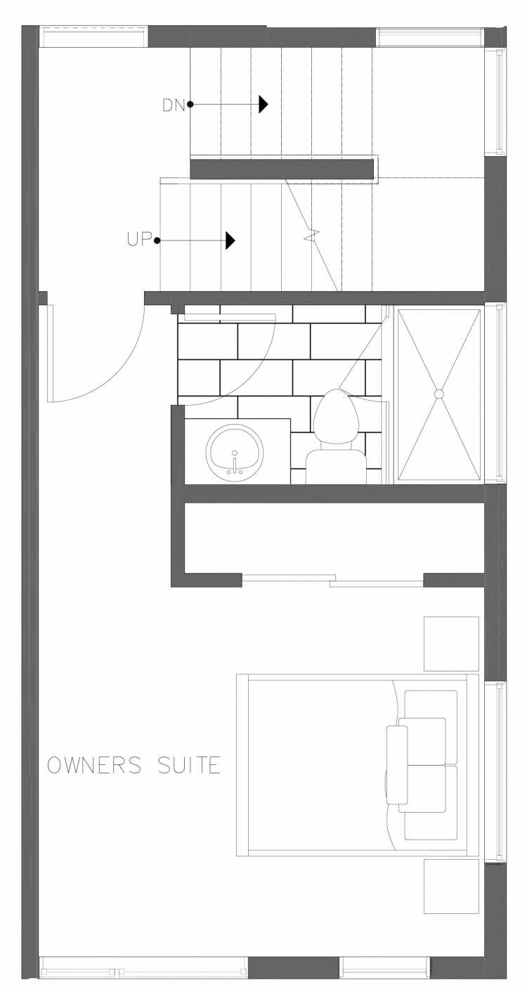 Third Floor Plan of 1730A 11th Ave, One of the Altair Townhomes in Capitol Hill by Isola Homes