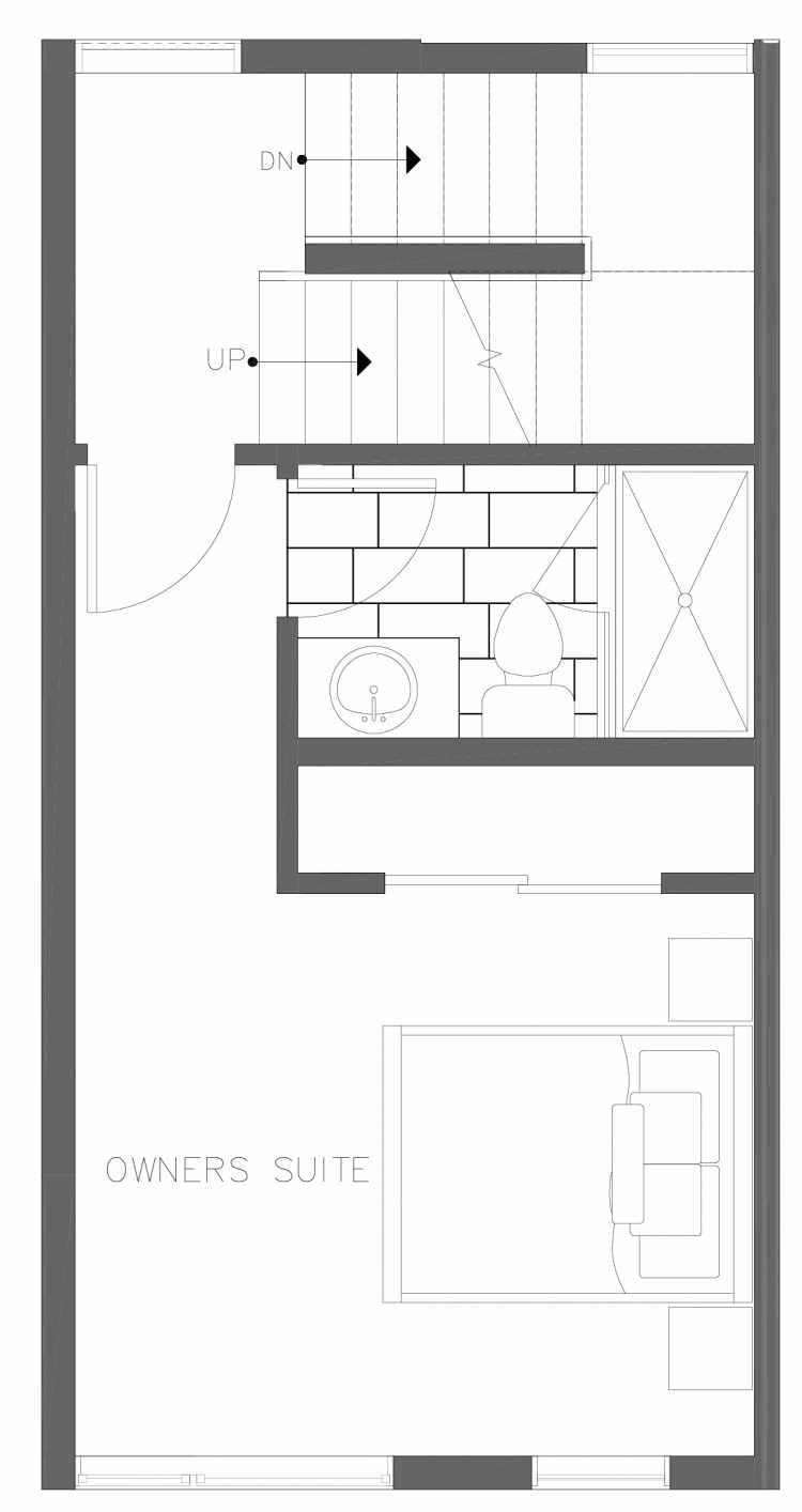 Third Floor Plan of 1730B 11th Ave, One of the Altair Townhomes in Capitol Hill by Isola Homes