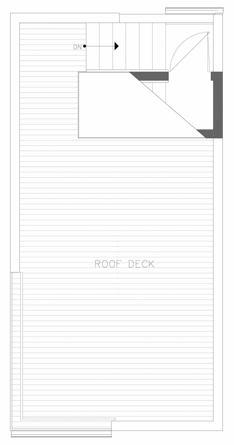Roof Deck Floor Plan of 1730C 11th Ave, One of the Altair Townhomes in Capitol Hill by Isola Homes