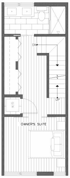 Third Floor Plan of 201C 23rd Ave E, a 6 Central Townhome by Isola Homes