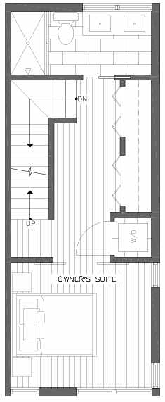 Third Floor Plan of 201F 23rd Ave E, a 6 Central Townhome by Isola Homes