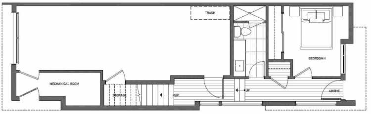 First Floor Plan of 2125 Dexter Avenue N