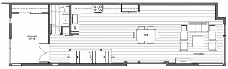Second Floor Plan of 2125 Dexter Avenue N