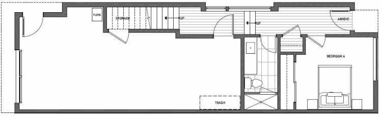 First Floor Plan of 2127 Dexter Avenue N