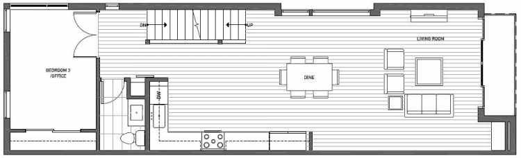 Second Floor Plan of 2127 Dexter Avenue N