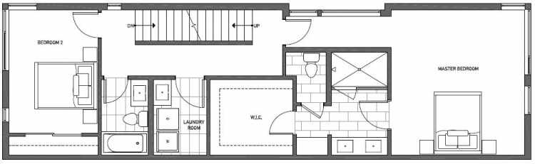 Third Floor Plan of 2127 Dexter Avenue N