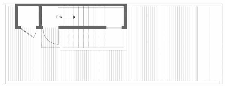 Roof Deck Floor Plan of 212A 18th Ave, One of the Amber Townhomes in Cabochon Collection