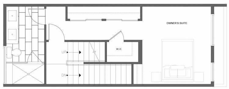 Third Floor Plan of 212C 18th Ave, One of the Amber Townhomes in Cabochon Collection