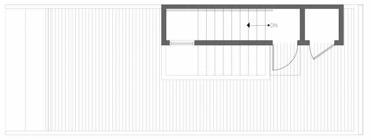 Roof Deck Floor Plan of 212C 18th Ave, One of the Amber Townhomes in Cabochon Collection