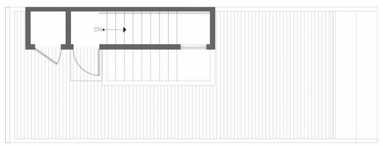 Roof Deck Floor Plan of 212B 18th Ave, One of the Amber Townhomes in Cabochon Collection