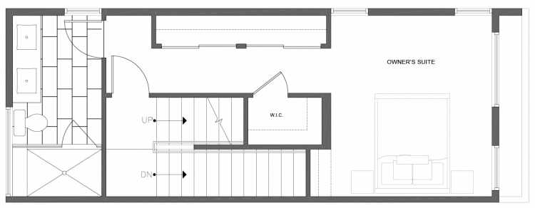 Third Floor Plan of 212G 18th Ave, One of the Amber Townhomes in Cabochon Collection