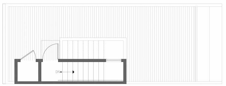 Roof Deck Floor Plan of 212G 18th Ave, One of the Amber Townhomes in Cabochon Collection