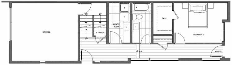 First Floor Plan of 2133 Dexter Avenue N
