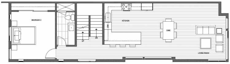 Third Floor Plan of 2133 Dexter Avenue N