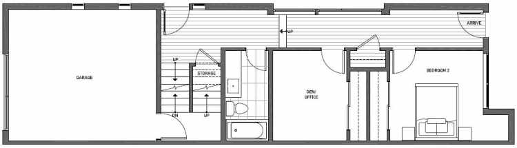 First Floor Plan of 2135 Dexter Avenue N