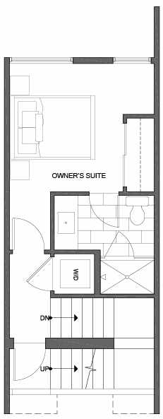 Third Floor Plan of 2308 W Emerson St, of the Walden Townhomes, by Isola Homes