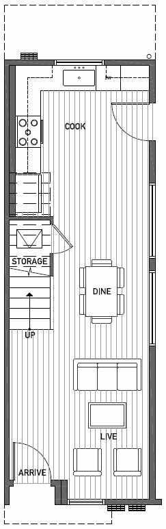 First Floor Plan of 2414A NW 64th St in Ballard