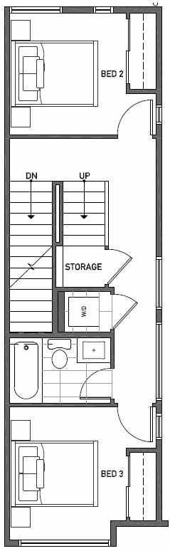 Second Floor Plan of 2414A NW 64th St in Ballard
