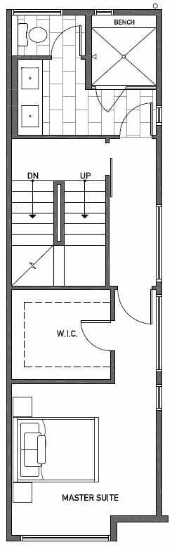 Third Floor Plan of 2414A NW 64th St in Ballard