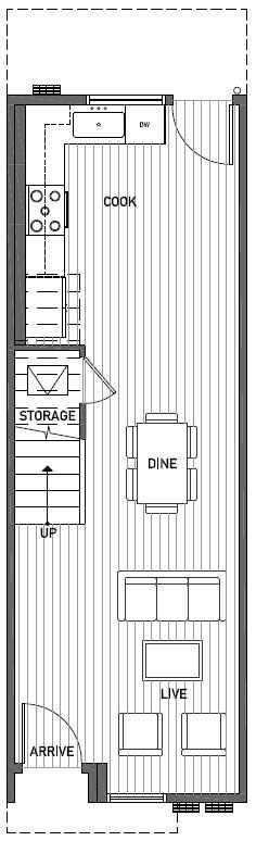 First Floor Plan of 2414B NW 64th St in Ballard