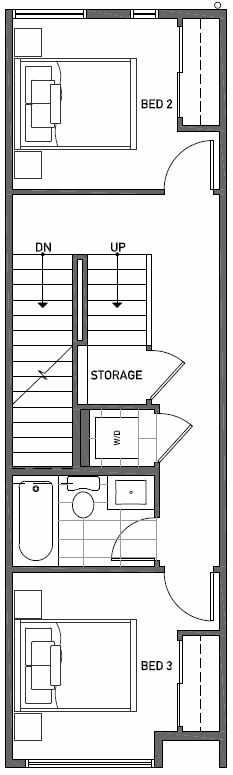 Second Floor Plan of 2414B NW 64th St in Ballard