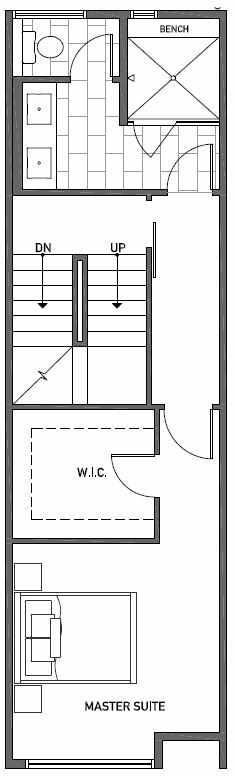 Third Floor Plan of 2414B NW 64th St in Ballard