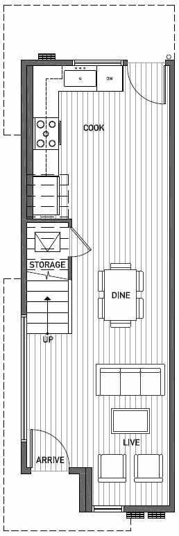First Floor Plan of 2414C NW 64th St in Ballard