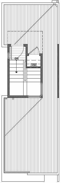 Roof Deck Floor Plan of 2414C NW 64th St in Ballard