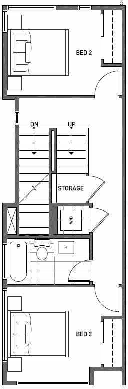 Second Floor Plan of 2414C NW 64th St in Ballard