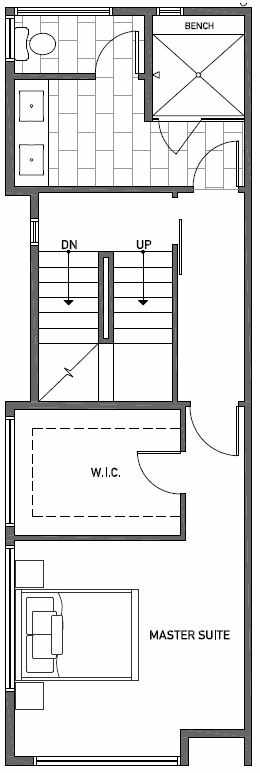 Third Floor Plan of 2414C NW 64th St in Ballard